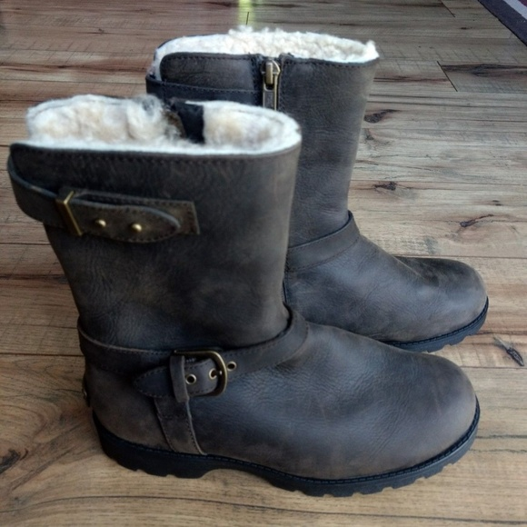 231030d178d UGG Grandle Shearling Waterproof Mid Calf Boots